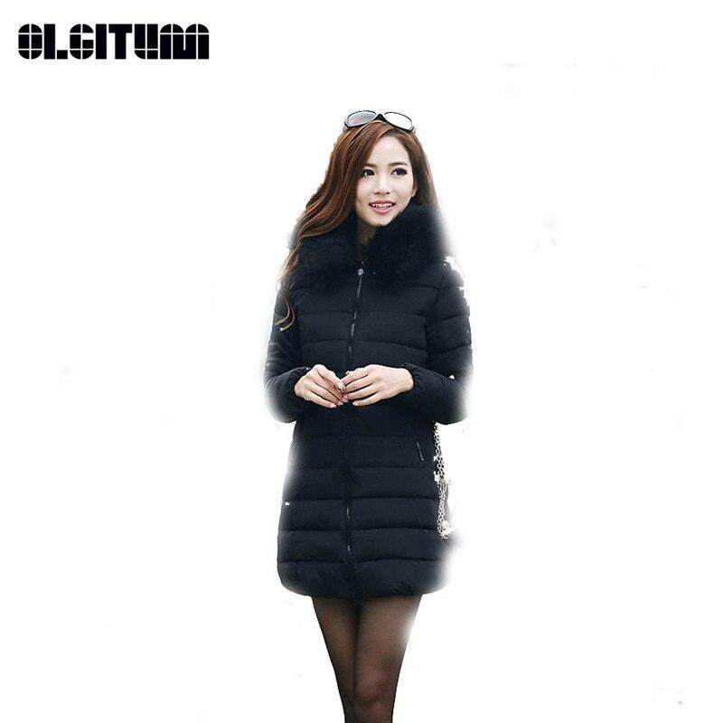 OLGITUM Plus Size 6XL Winter Jacket Women's 2018 Fur Collar Thick Warm Cotton Parka For Women Winter Jacket Coat Female CC315