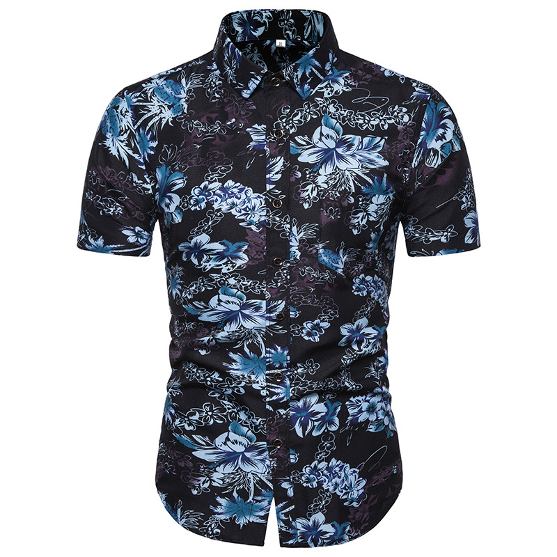 2019 Short Sleeve Shirt Men Summer Fashion Casual Plus Size Mens Floral Shirts High Quality printing Shirts Mens Social 5XL in Casual Shirts from Men 39 s Clothing