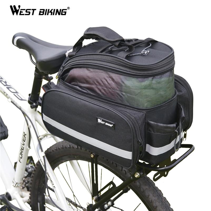 WEST BIKING 25 кг велосипедная стойка велосипедная задняя багажная Стойка горный велосипед аксессуары Bagageiro Bicicleta грузовой рюкзак велосипедная с...