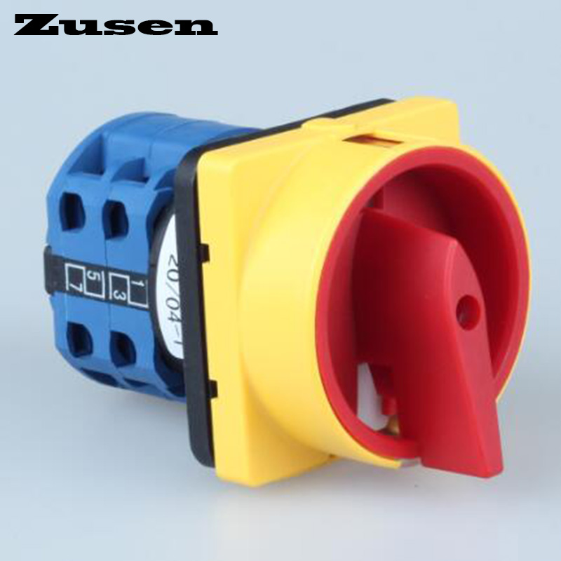 Zusen Cam Switch 690V 20A Universal Switch lock rotary 4 Poles 8 terminals OFF-ON 2 position switch 12mm zinc alloy electronic key switch on off lock switch phone lock security power switch tubular terminals 2 keys 2 position