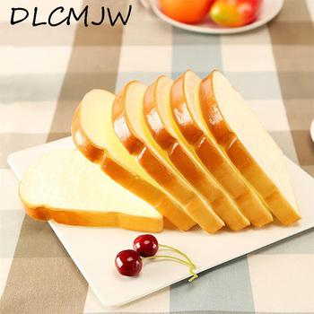 Sztuczna żywność squishy chleb model symulacyjny kromka miękki chleb fałszywe ciasto piekarnia fotografia rekwizyty Decor kromka miękki chleb tanie i dobre opinie 1 pc DLCMJW 13 5*11*2cm