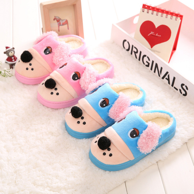 New Cartoon Slippers Non-slip Minions slippers Children Home Shoes soft Cotton Warm Thick Bottom Slippers for kids