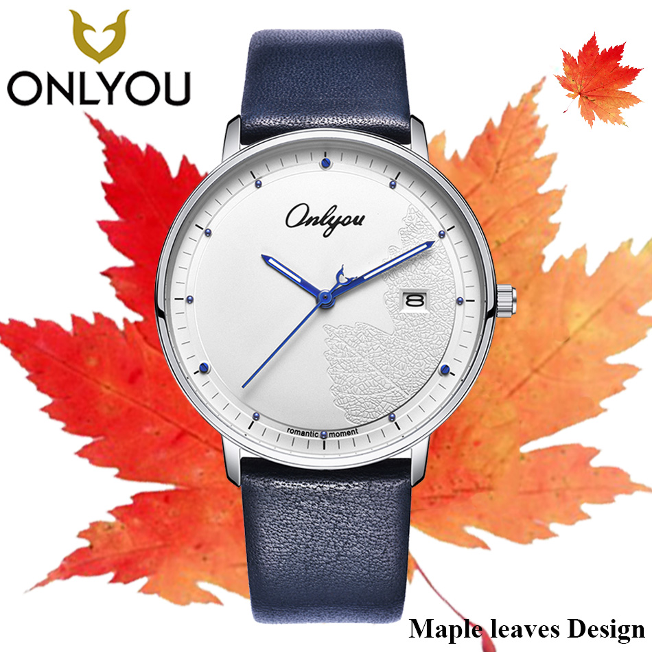 ONLYOU Fashion Creative Men Watch Lovers Wristwatch Ladies Dress Quartz Watches Women Casual Clock Couple Elegant Waterproof women men quartz silver watches onlyou brand luxury ladies dress watch steel wristwatches male female watch date clock 8877