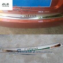 1 шт. для 2009- Skoda Fabia II 542 хэтчбек из нержавеющей стали задняя Накладка на порог багажника Защитная педаль высокого качества