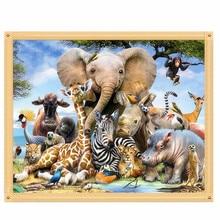 DIY 5D Embroidery Painting Cross Stitch Needlework Animals Mosaic Home Decor 30cm*24cm #K400Y#