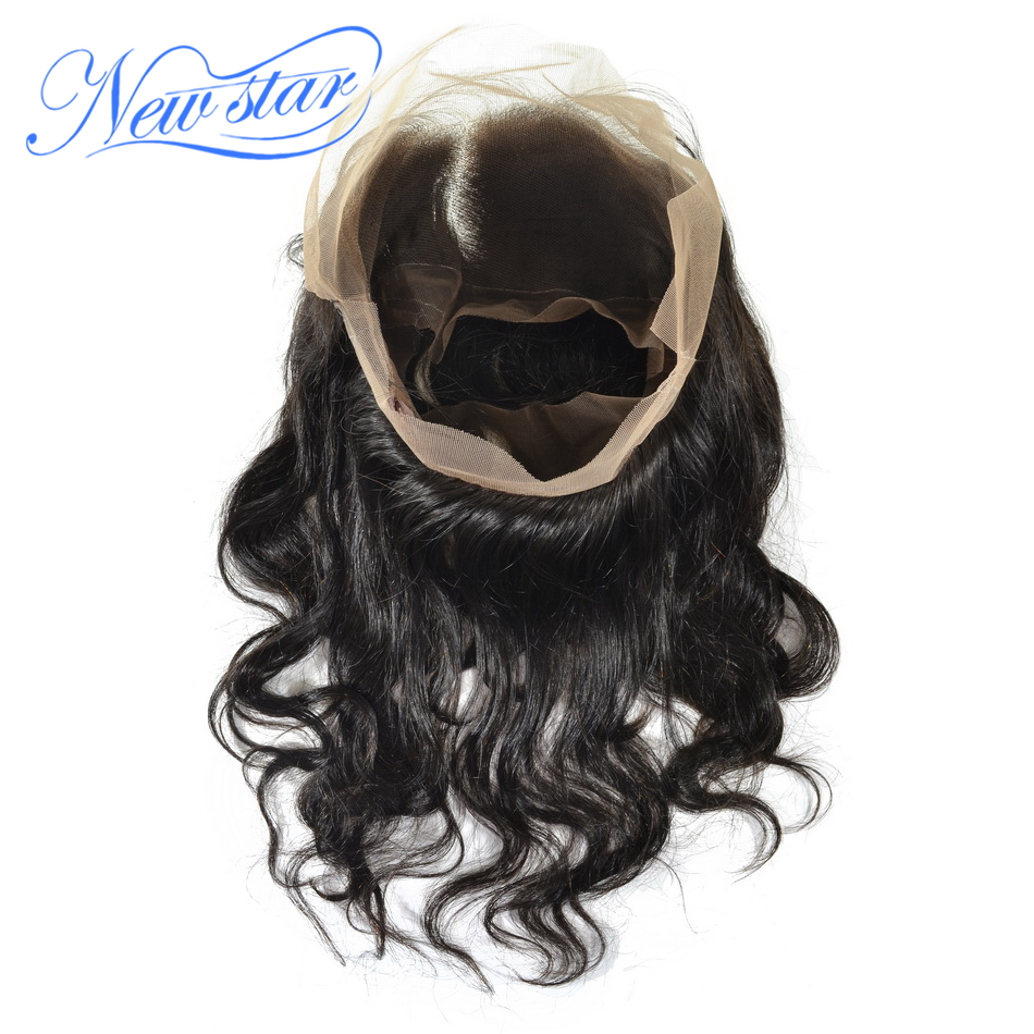New Star Hair Pre Plucked 360 Lace Frontal Closures Brazilian Body Wave Virgin Human Hair Free