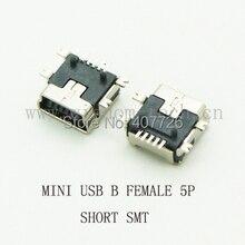 10 ШТ. Короткие Тип SMD разъем Мини-usb Разъем Micro USB 5pin тип B Женский Джек Для Мобильного Телефона Micro USB Джек разъем