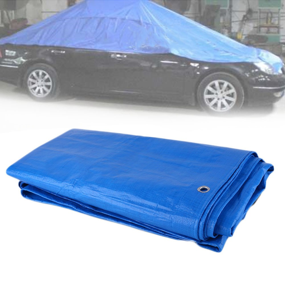 Car Auto Tarpaulin Luggage Cover Canvas Sheet Roof Shelter