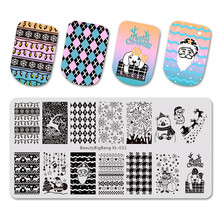 BeautyBigBang Nail Stamping Plate Xmas Cute Snowman Dog Image Stamper Art Template Mold Plates BBB XL-032