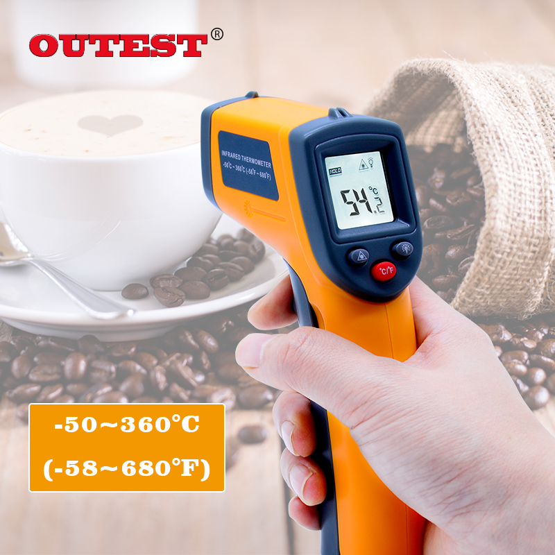 Non contact Digital Laser infrared thermometer GS320 -50~360C (-58~680F) Temperature Pyrometer IR Laser Point Gun original xiaomi mijia ihealth thermometer accurate digital fever infrared clinical thermometer non contact measurement led shown