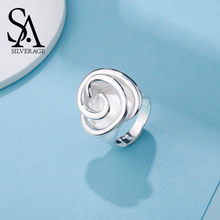 SA SILVERAGE Real 925 Sterling Silver Rose Ring for Women Fine Jewelry 2017 New Arrival silverage real 925 sterling silver star jewelry sets for women fine jewelry star necklaces couple jewelry wedding gifts