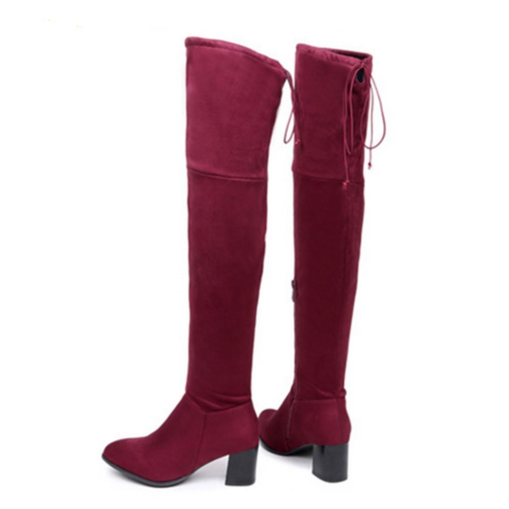 red high boots