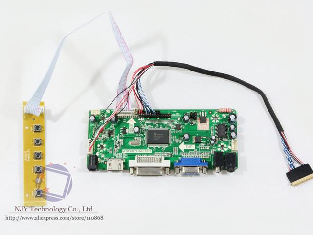 M. NT68676.2A HDMI DVI VGA Placa Controladora de ÁUDIO LCD para B156XTN02 B156XTN03 B156XTN04 B156XTN05 1366x768 WLED HDMI para LVDS LEVARAM