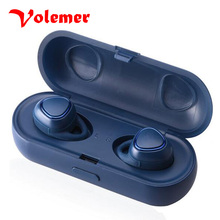On sale Volemer Wireless Bluetooth headphones TWS sports waterproof mini bluetooth headsets with charge / storage box for IOS Android