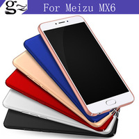 2pcs For Meizu MX6 Case Luxury Slim Hard Scrub PC Back Cover Full Protection Housing For