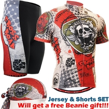 2017 summer men cycling wear New Quick dry Ciclismo Jerseys skulls printed Bicycle Sports Short Sleeve Shorts Sport Clothes Men