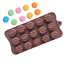 1Pc Flowers Chocolate Silicone Mold For Cake Cookies Non-stick 3D Fondant Candy DIY Molds Kitchen Accessories