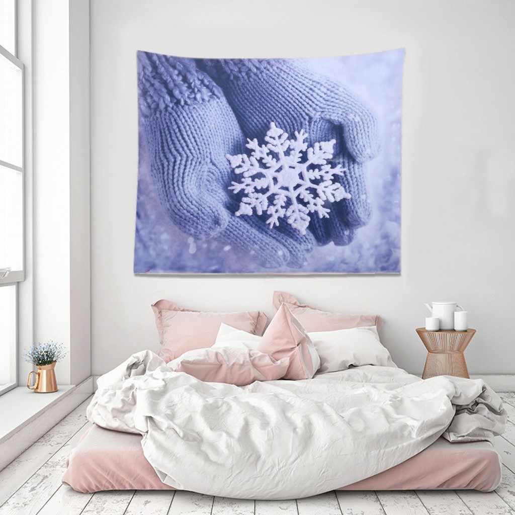 حار بيع عيد الميلاد نسيج الجدار شنقا البوليستر نوم زخرفة المنزل غرفة جميلة ديكور عيد الميلاد مهرجان جدار المفروشات