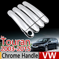 For VW Touran 2003-2015 Chrome Handle Covers Trim Set of 4p Volkswagen 2005 2006 2010 2012 Car Accessories Car Styling Sticker
