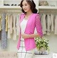 Новый 2016 весной и летом стиль кружева пиджак женский три четверти рукавом женский пальто B156