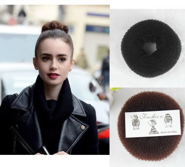TS hair accessories for women Fashion headwear tool soft hair bun ring foaming ball shape hair band wig shape tools Big Size