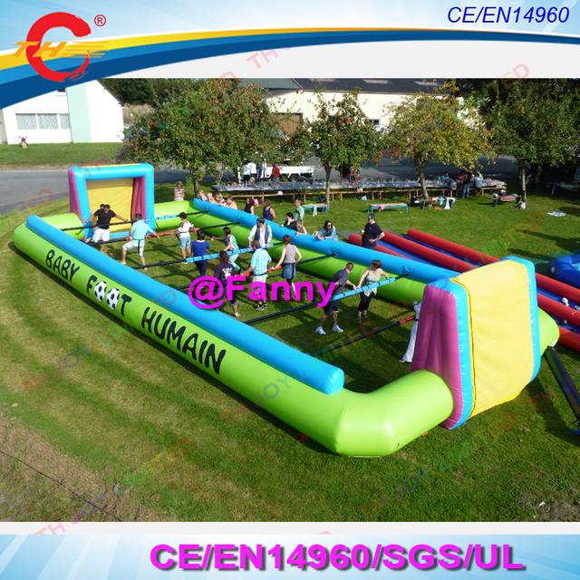 US $750 0 |free shipping!kids or adults inflatable baby foot humain  game,inflatable human soccer field, inflatable foosball soccer field-in  Inflatable
