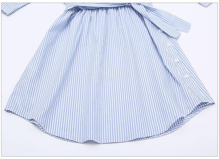 2017Fashion one shoulder Blue striped women shirt dress Sexy side split Elegant half sleeve waistband Casual beach dresses 14