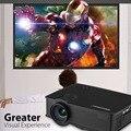 Excelvan GP9 EHD09 LED Proyector 800x480 píxeles 2000 lúmenes de Cine En Casa Soporte HDMI/USB/SD/AV/AUX Beamer con Cable Libre de HDMI