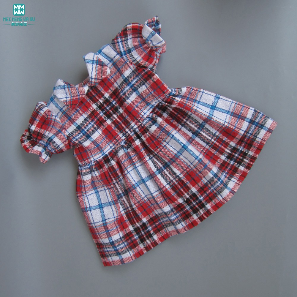 Baby <font><b>clothes</b></font> for <font><b>doll</b></font> fit 43 <font><b>cm</b></font> new born <font><b>doll</b></font> accessories lattice dress image