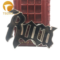 Fashion Rock Metal Belt Buckle With Black Coating Suitable 3 8 4cm Width Belt Easy To