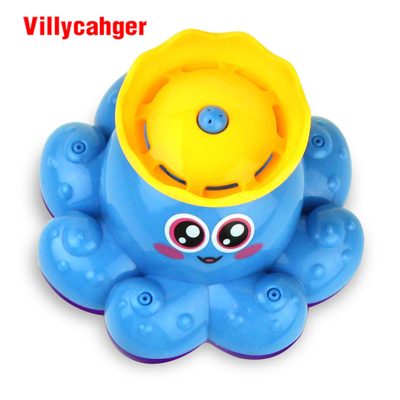 Toddlers Kids Floating Bath Toys Baby Octopus Child Rings Learn Play Fun Gifts D