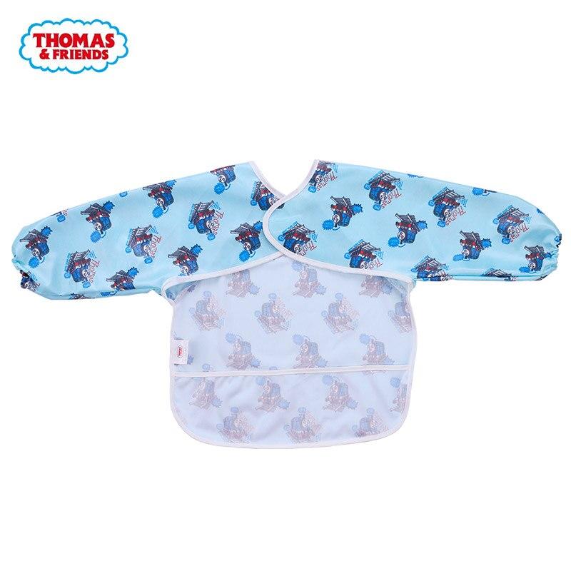 Thomas & Friends Anti dress Baby Feeding Cloth Baby Bid Waterproof Breathable Back Adjustable Soft Long sleeve eating Cloth
