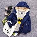 Детская одежда зима сгущает вниз пальто мальчиков куртка куртки детские зимние куртки для мальчиков-подростков комбинезоны меховая куртка с капюшоном