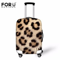 FORUDESIGNS 3D Leopard Printed Luggage Protective Cover Spandex Waterproof Anti Dust Rain Cover For 18 30inch