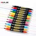 שמן מרקר עט ילדי ציור ציור סמן עט צבעוני עמיד למים עט 8/12 Pcs כפולה טיפ קבוע סימן סמן עט MP-609