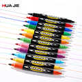 8/12pcs Dual Tip Permanent Sign Marker Pen Child Drawing Painting Art Marker Colorful Waterproof Oily Marker Pen Office Supplies