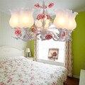 Светодиодная люстра  осветительная лампа  железная Люстра для спальни  гостиной  сада  ресторана  Европейской детской комнаты  лампа