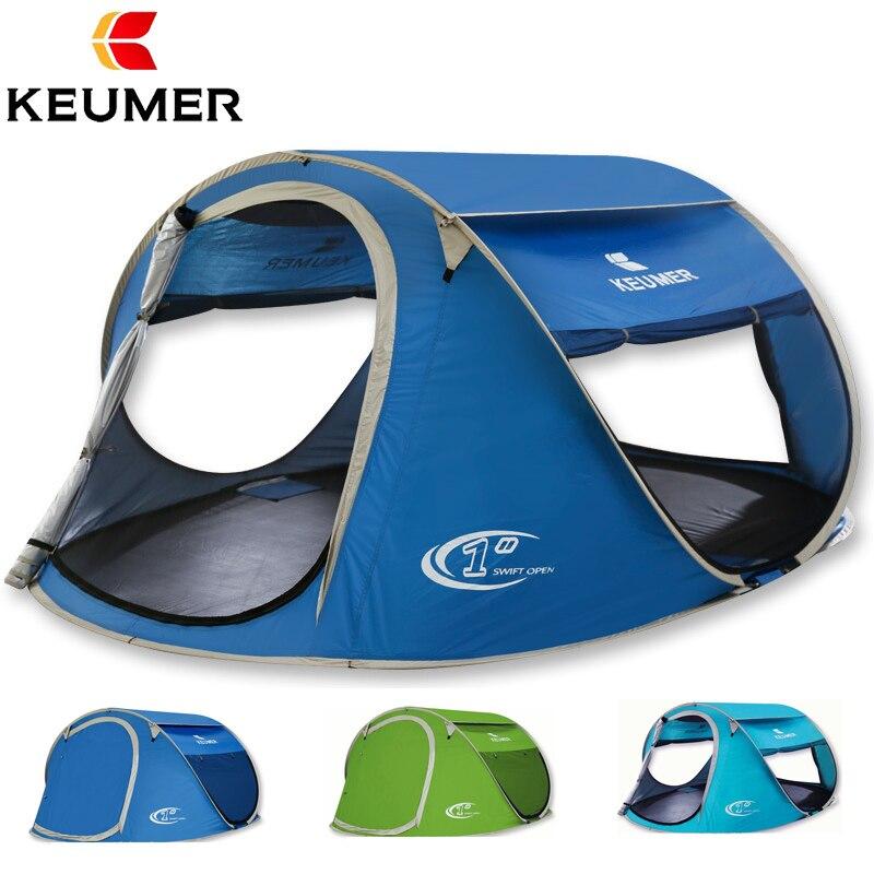 KEUMER tente de plage Pop Up ouvrir grand automatique installation instantanée facile pliable abri 240*180*100 cm avec revêtement anti-UV Camping