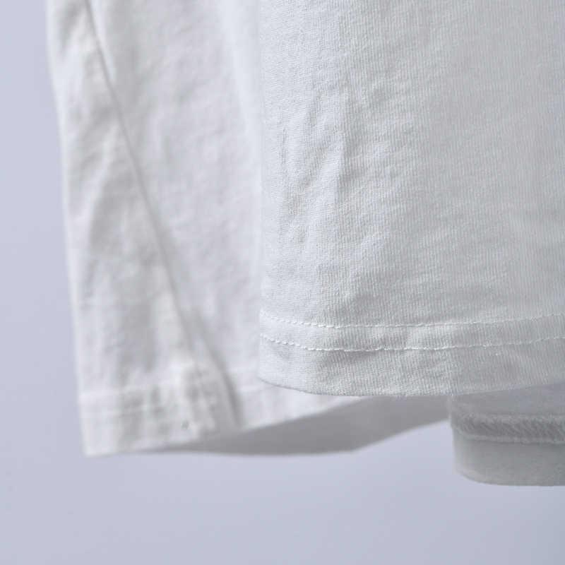 T3399 Корейская версия автомобиля круглый воротник с коротким рукавом плечо свободная большая версия джокера белая футболка женская