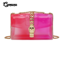 Crossbody Bags For Women 2019 Shoulder Bag Colorful Jelly Transparent PVC Ladies Hand Candy Color Purse sac main