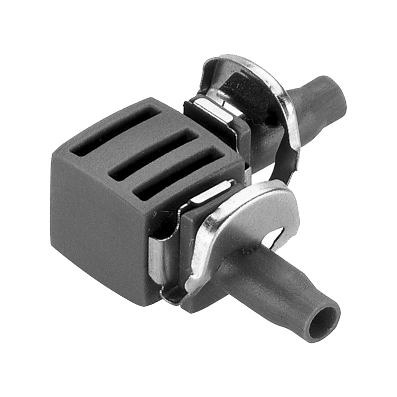 Connector GARDENA L-shaped 4.6 mm (3/16 ) Home & Garden Garden Supplies Watering & Irrigation Garden Water Connectors 5pcs lot 3 way air pneumatic 12mm to 12mm tee y shaped plastic pipe fitting push in connectors quick joint fittings