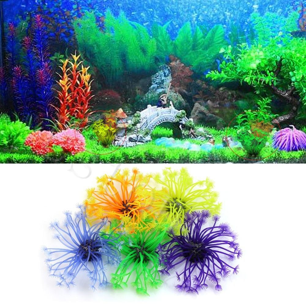 Artificial aquarium fish tank - 1pc Artificial Tentacle Coral Plant Ornament Decoration For Aquarium Fish Tank F1fb China