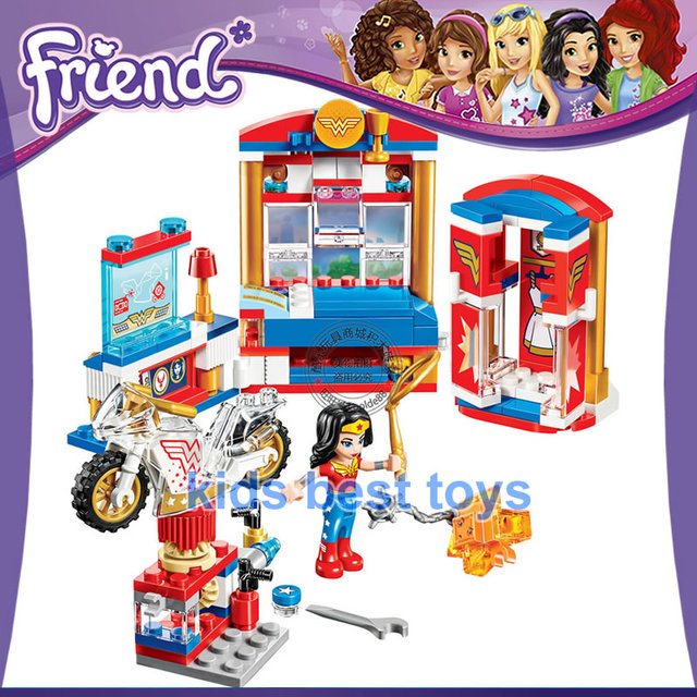 DC Superhero Wonder Woman Dorm 10616 Building Brick Model Toys Girls Gift Compatible 41235