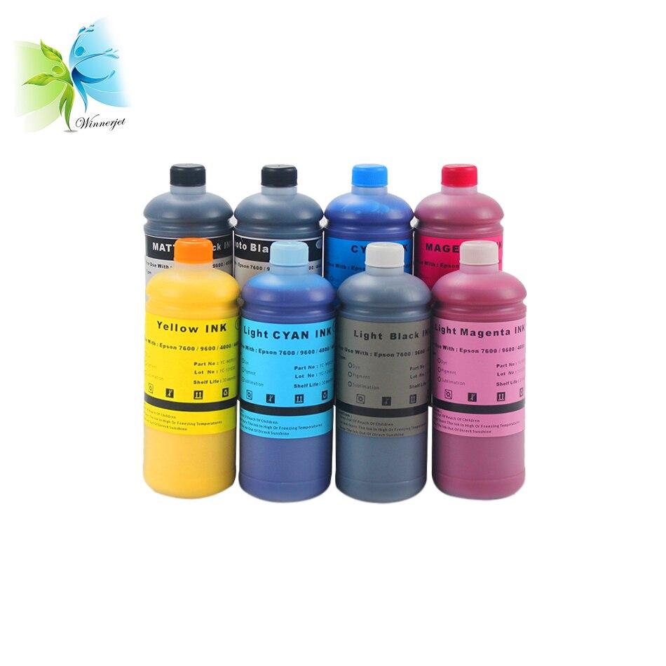 Encre de Sublimation de colorant de WINNERJET 1000 ML pour l'impression d'encre numérique d'imprimante de stylet Pro 4000 7600 9600 d'epson