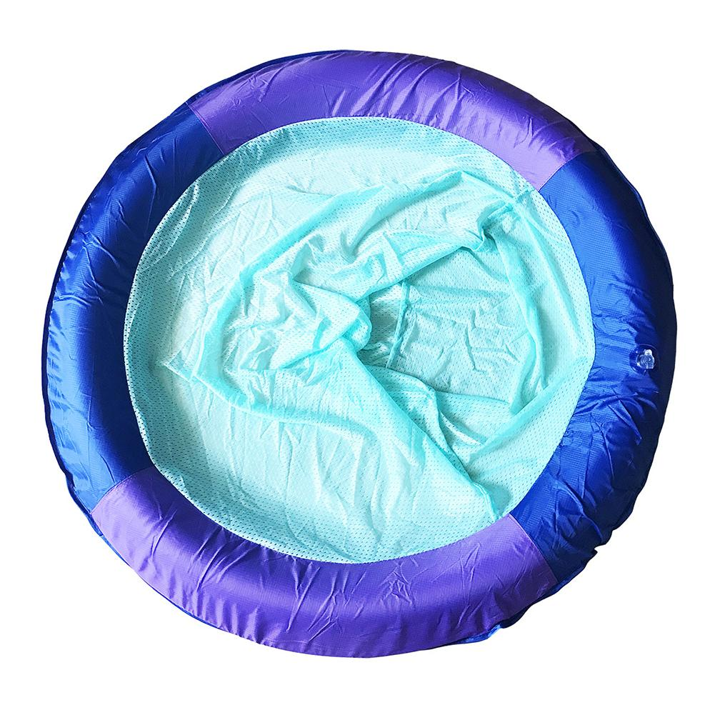 Swimming Pool Floating Row Chair Mesh Recliner Inflatable Floating Bed Mesh Air Mattress For Adult Kid Swimming Beach Water Toys