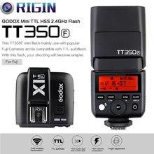 Godox Mini Speedlite TTL TT350F High Speed 1/8000 s GN36 2,4G wireless X System + Sender Trigger X1T-F Kit Für Fuji