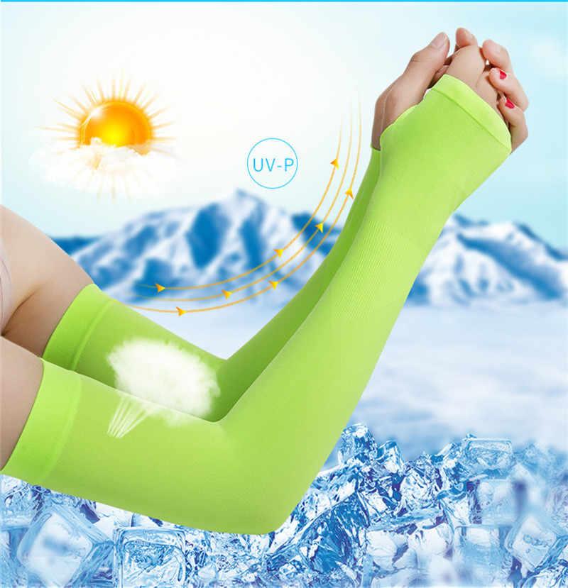1 çift Erkek Kadın Bisiklet Kol Kol Koşu Bisiklet Bisiklet manşet Güneş Koruma Manşet Kapağı Koruyucu Anti-sweat kol ısıtıcıları