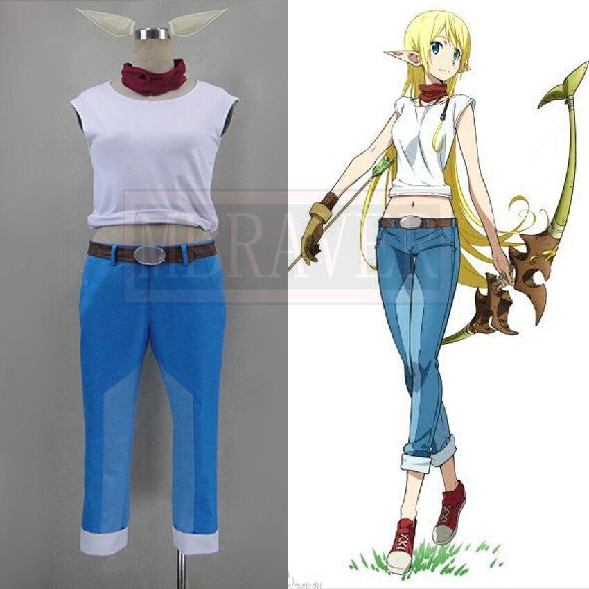 Anime Gate Jieitai Kano Chi nite Kaku Tatakaeri Rory Mercury Tyuka Runa Maruso Cosplay Costume