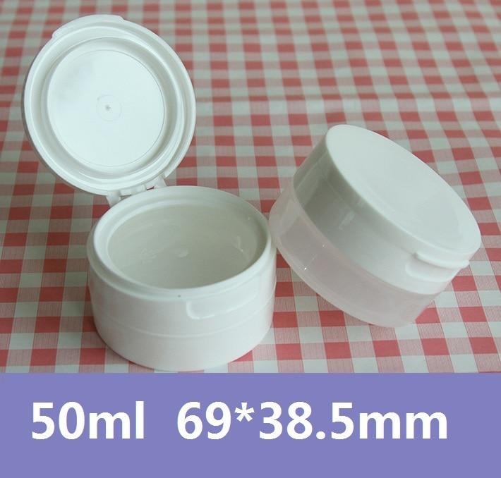 30pcs / lot visokokakovostni PP Jar 50g bela in zmrznjena kapica - Orodja za nego kože