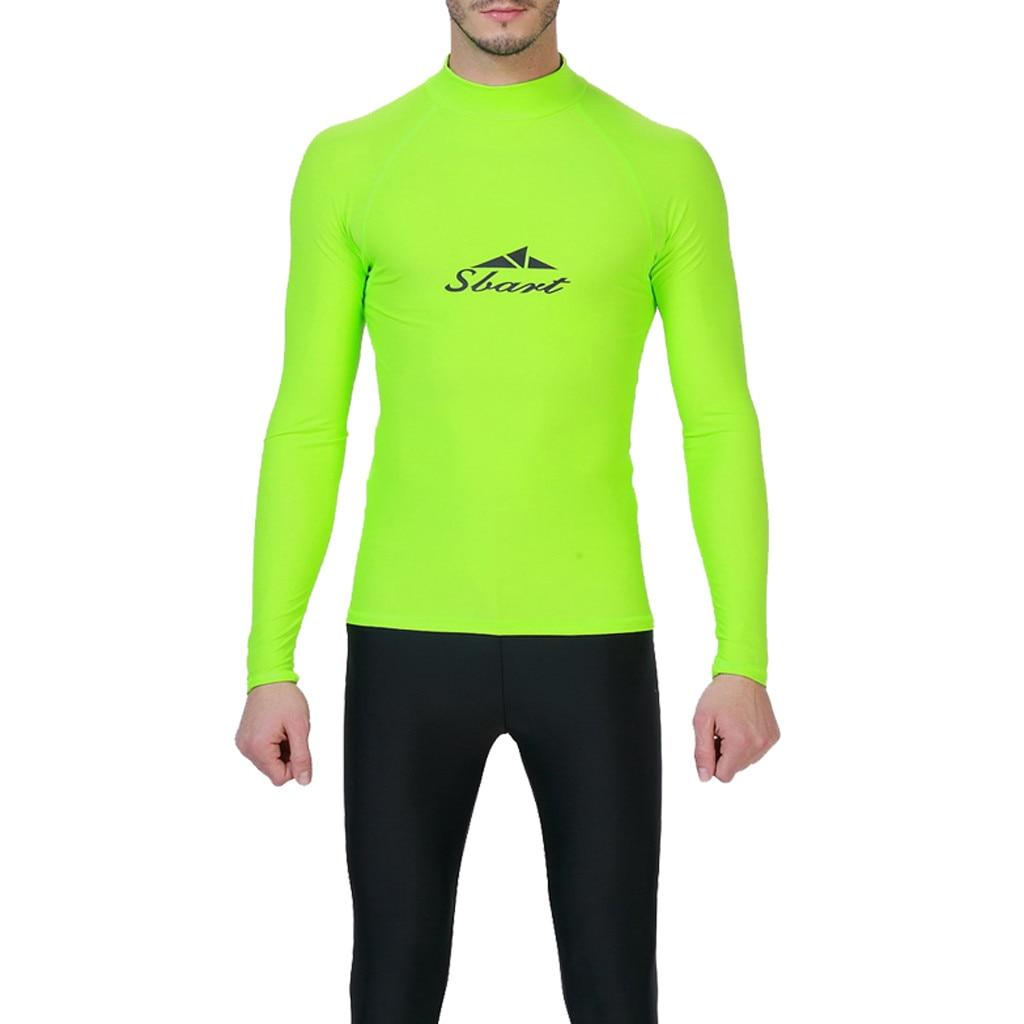 MEN/'S RASH GUARD BEACH LONG SLEEVE SURF SWIM TOP SHIRTS WETSUITS GET A FREE PANT